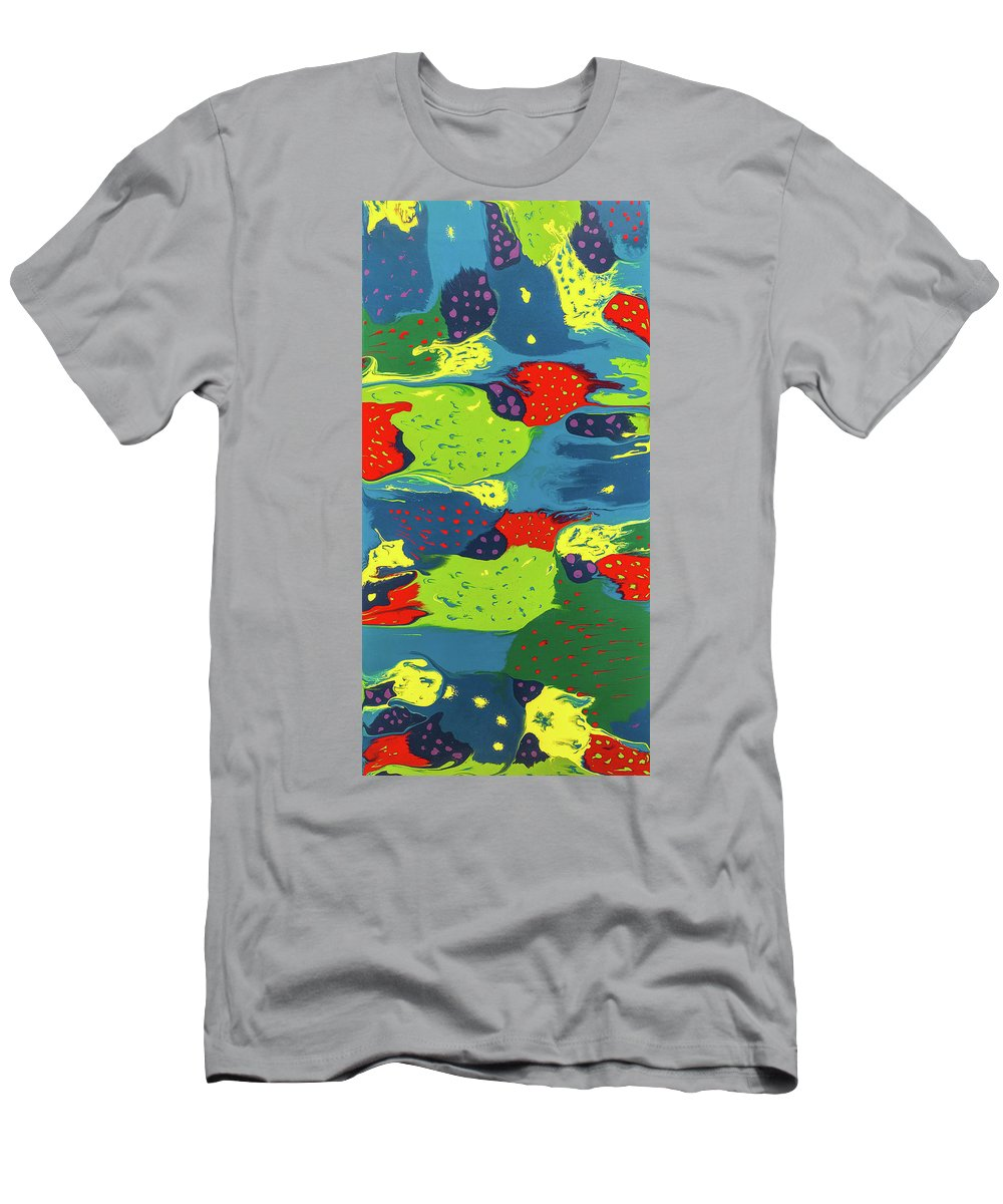 Abstract Men's T-Shirt (Athletic Fit) featuring the painting Salvador Suess by Dianne Bartlett