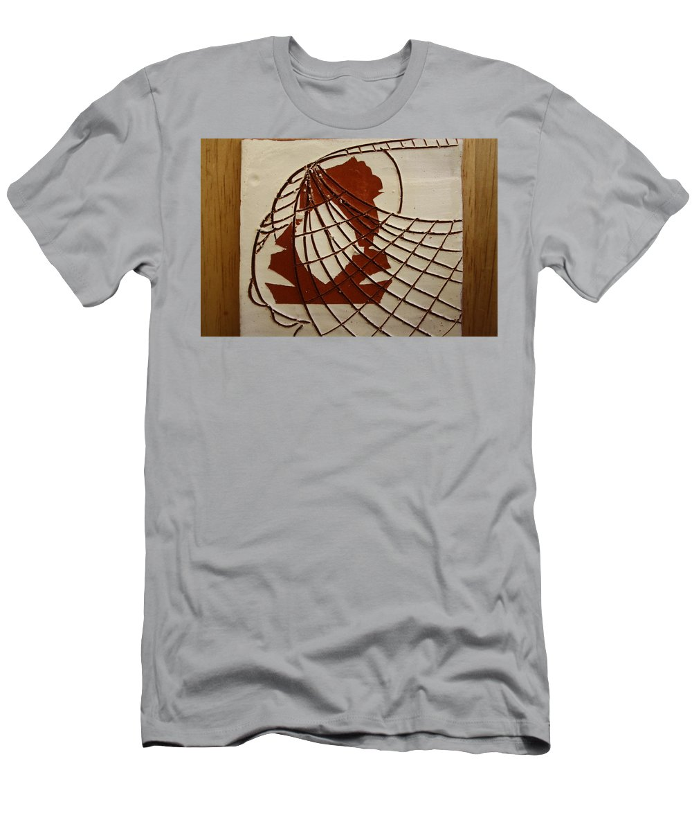Jesus Men's T-Shirt (Athletic Fit) featuring the ceramic art Samantha - Tile by Gloria Ssali
