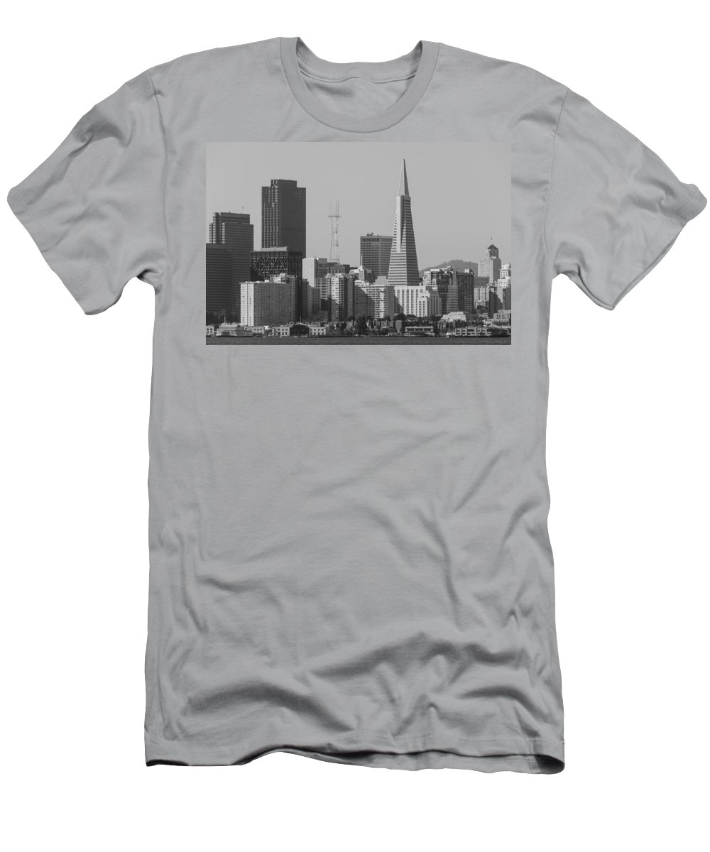 City Men's T-Shirt (Athletic Fit) featuring the photograph San Francisco From Treasure Island by Bruce Frye