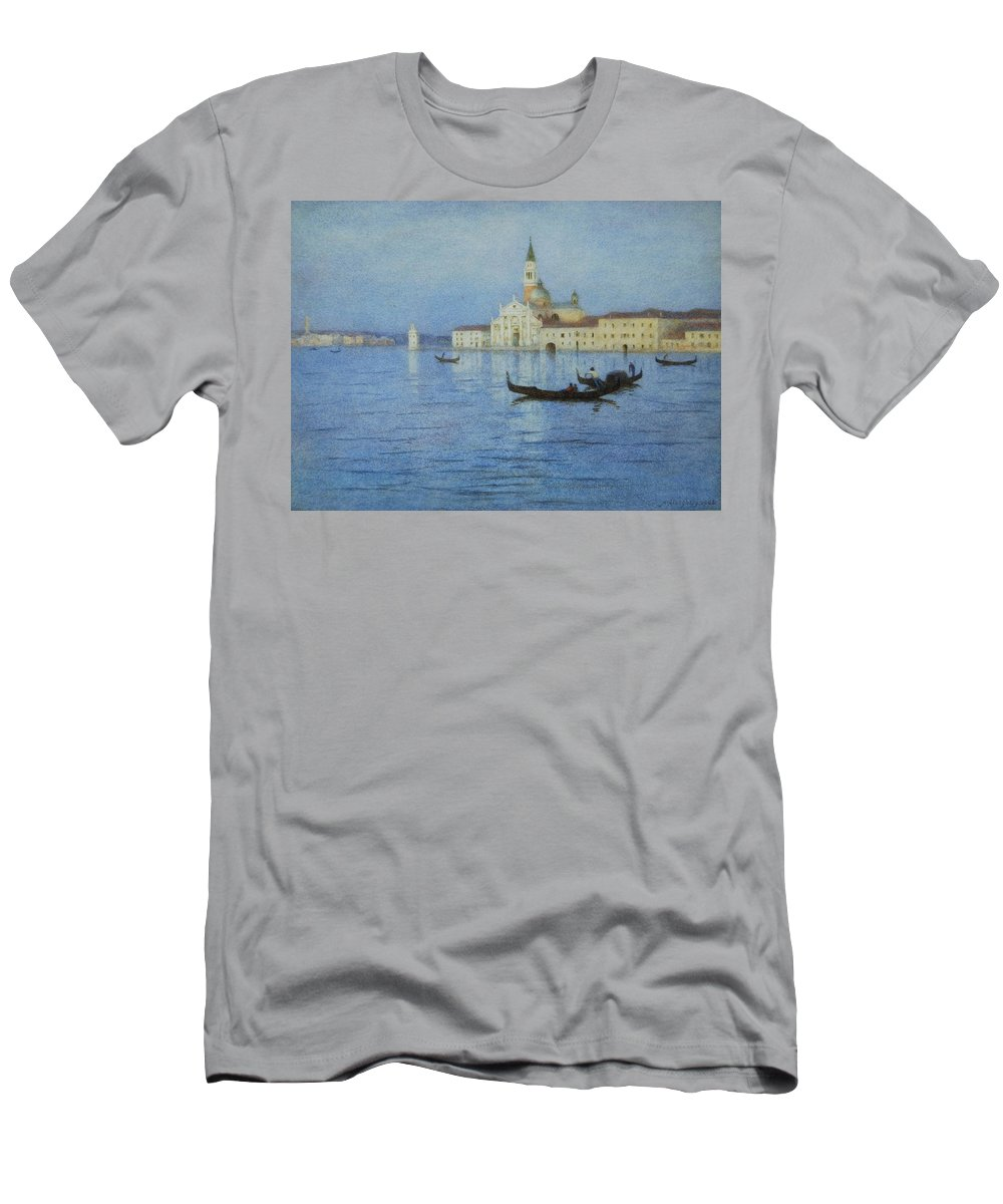 San Men's T-Shirt (Athletic Fit) featuring the painting San Giorgio Maggiore by Helen Allingham