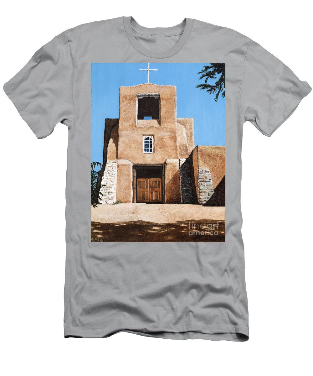 Art Men's T-Shirt (Athletic Fit) featuring the painting San Miguel by Mary Rogers