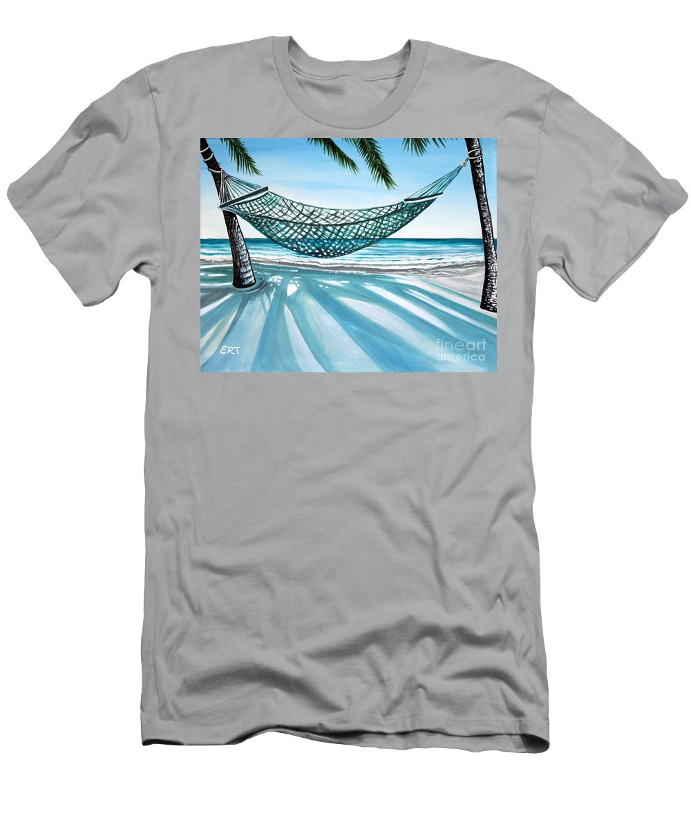 Landscape Men's T-Shirt (Athletic Fit) featuring the painting Sand And Shadows by Elizabeth Robinette Tyndall