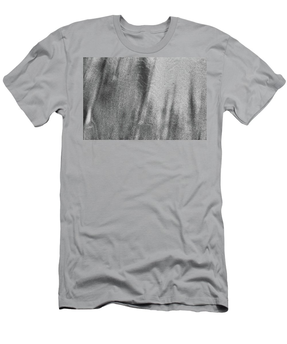 Abstract Men's T-Shirt (Athletic Fit) featuring the photograph Sand Blend Bw by Lyle Crump