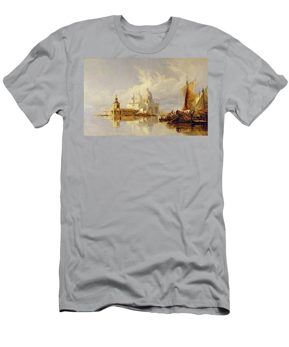 Santa Men's T-Shirt (Athletic Fit) featuring the painting Santa Maria Della Salute by William James Muller