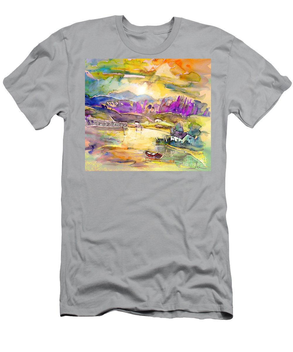 Scotland Men's T-Shirt (Athletic Fit) featuring the painting Scotland 19 by Miki De Goodaboom