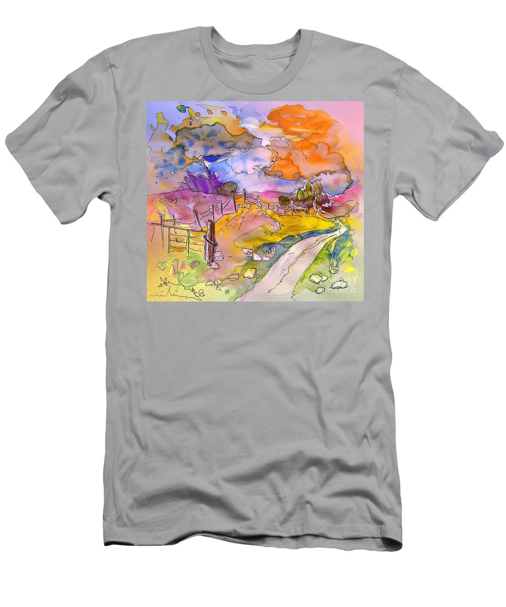 Scotland Men's T-Shirt (Athletic Fit) featuring the painting Scotland 22 by Miki De Goodaboom