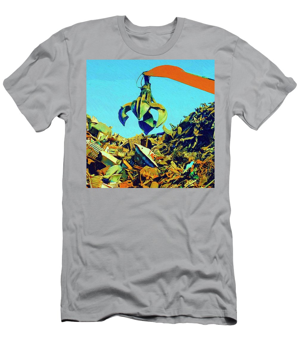 Scrap Men's T-Shirt (Athletic Fit) featuring the painting Scrap by Dominic Piperata