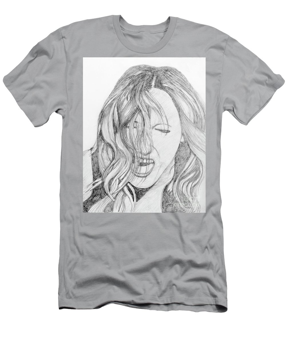 Stephen Mens T Shirt Athletic Fit Featuring The Drawing Screaming Abdabs By