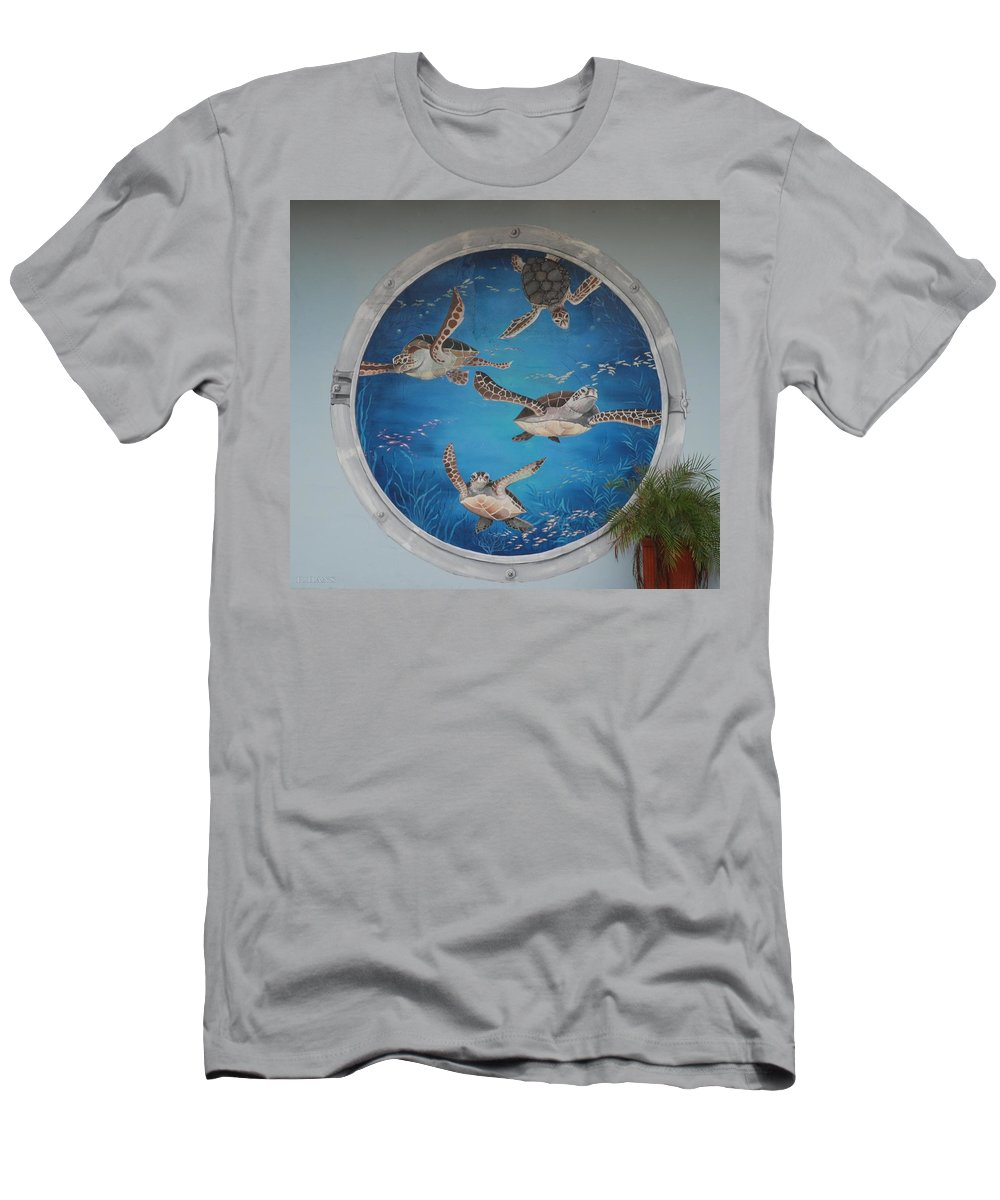 Sea Turtles Men's T-Shirt (Athletic Fit) featuring the photograph Sea Turtles by Rob Hans
