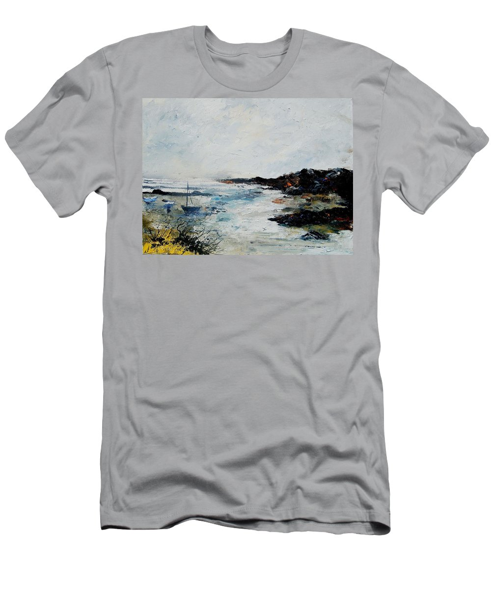 Sea T-Shirt featuring the painting Seascape 68 by Pol Ledent