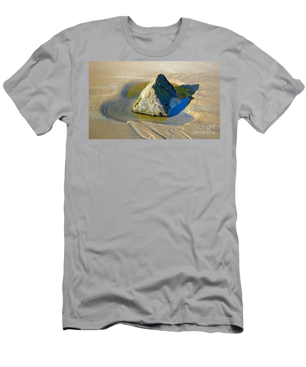 Rock Men's T-Shirt (Athletic Fit) featuring the photograph Second Study Of A Rock by Louise Heusinkveld