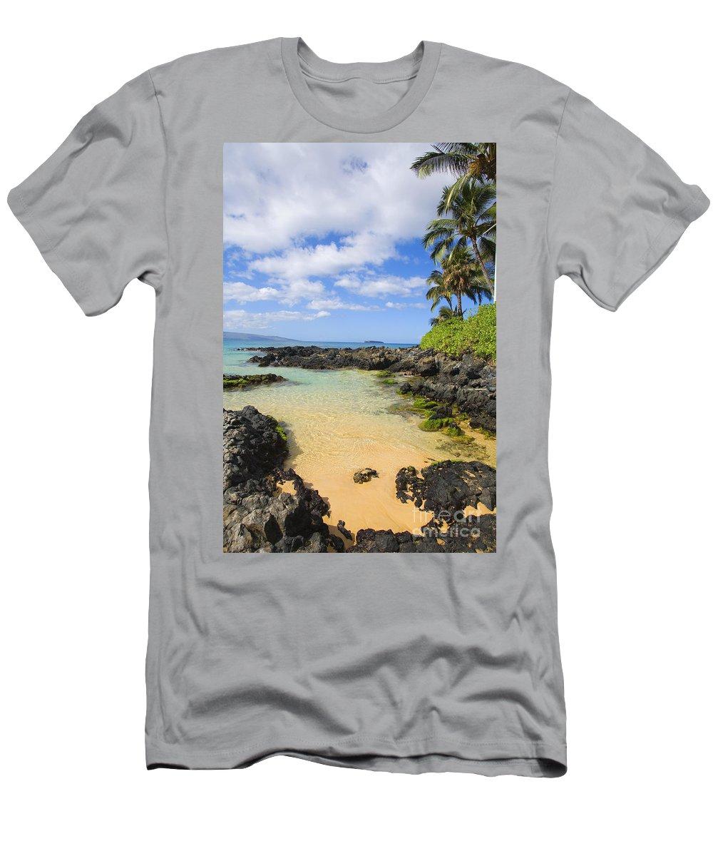 Beach Men's T-Shirt (Athletic Fit) featuring the photograph Secret Beach by Ron Dahlquist - Printscapes