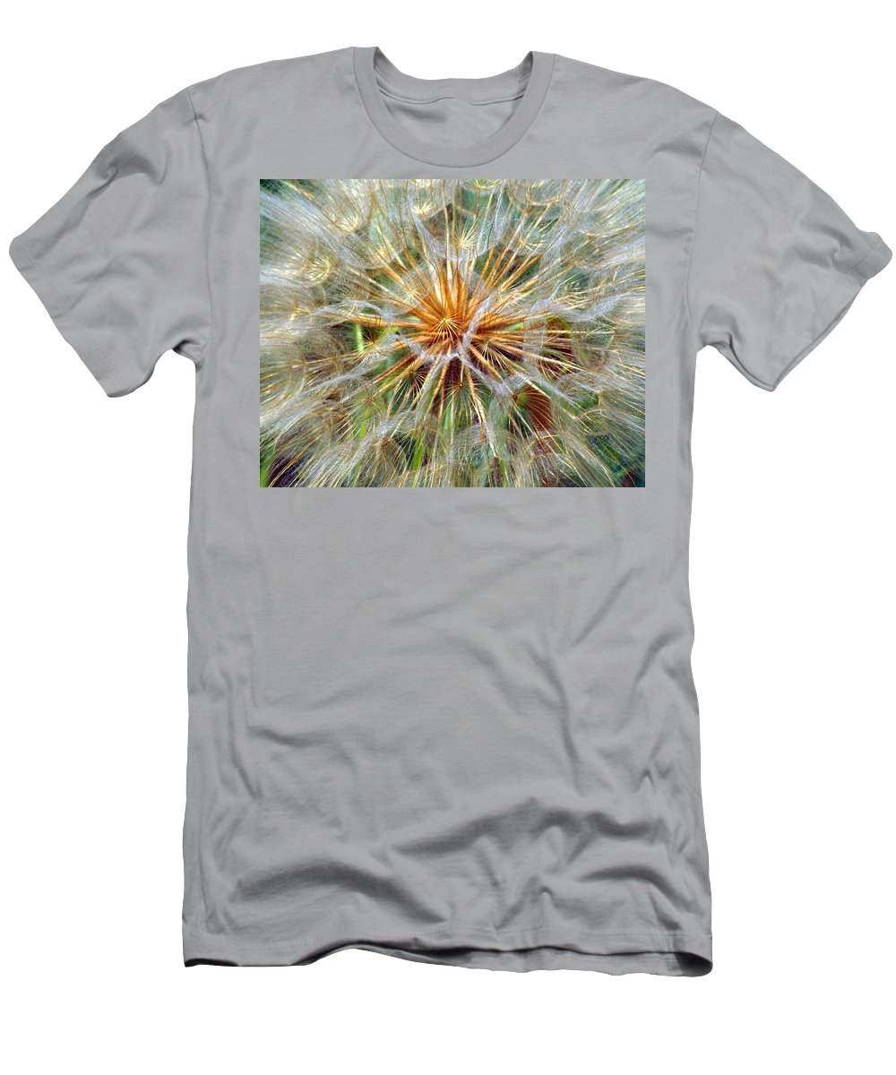 Wildflower Men's T-Shirt (Athletic Fit) featuring the photograph Seeds by Marty Koch