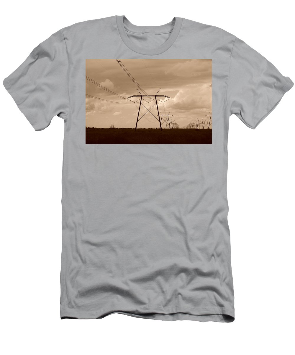 Sepia Men's T-Shirt (Athletic Fit) featuring the photograph Sepia Power by Rob Hans