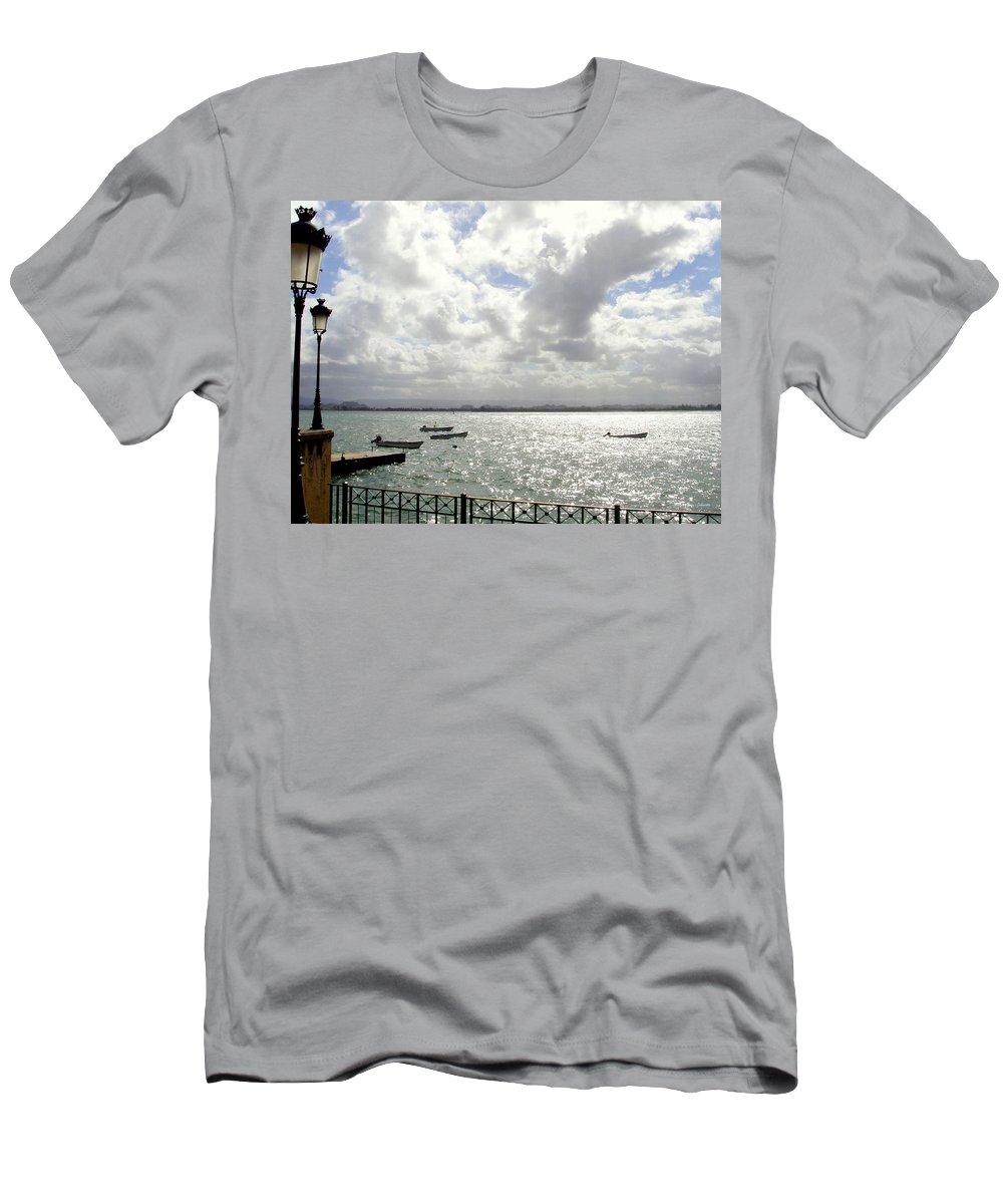 Seaside Men's T-Shirt (Athletic Fit) featuring the photograph Serene by Deborah Crew-Johnson