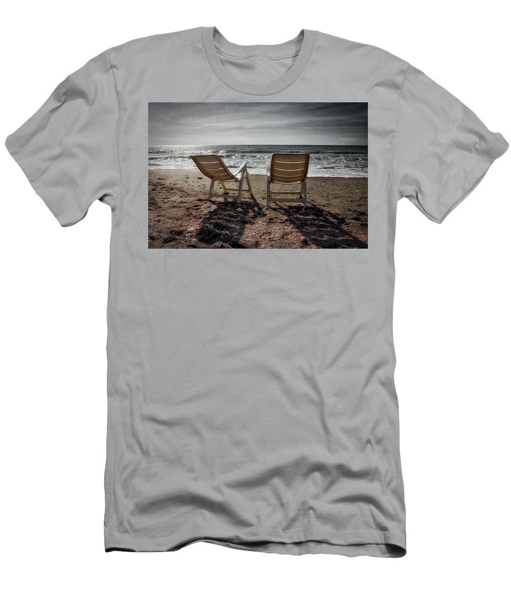 Beach Men's T-Shirt (Athletic Fit) featuring the photograph Serenity by John McCuen
