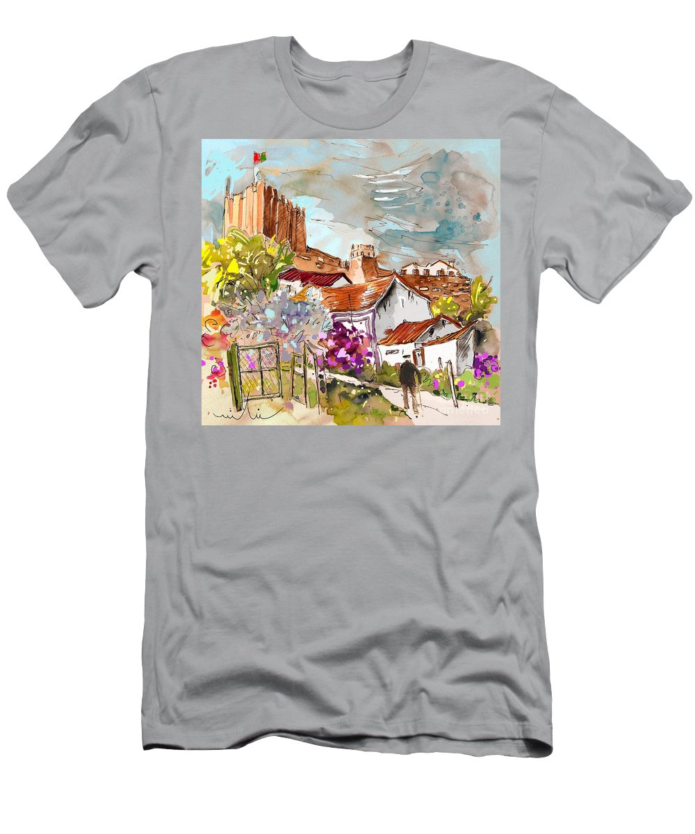 Water Colour Painting Serpa Portugal Men's T-Shirt (Athletic Fit) featuring the painting Serpa Portugal 26 by Miki De Goodaboom