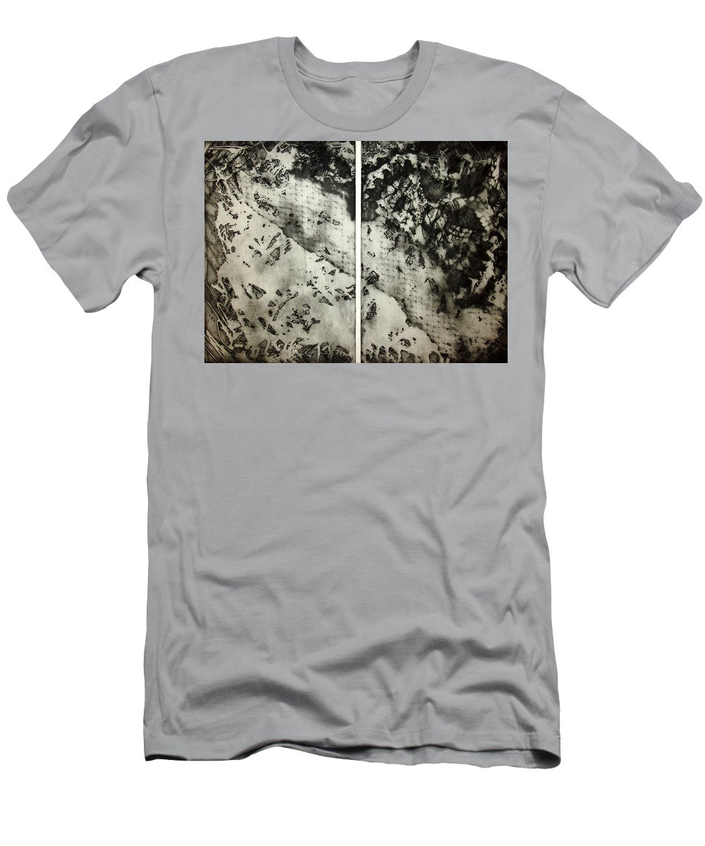 Etching Men's T-Shirt (Athletic Fit) featuring the drawing Shadows And Lace by Nancy Mueller