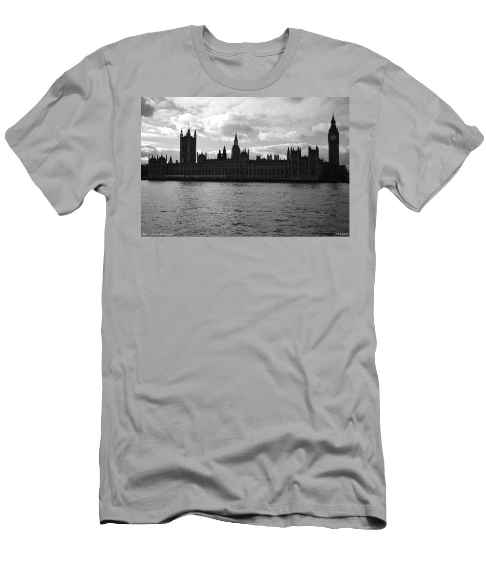 London Men's T-Shirt (Athletic Fit) featuring the photograph Shadows Of Parliament by J Todd