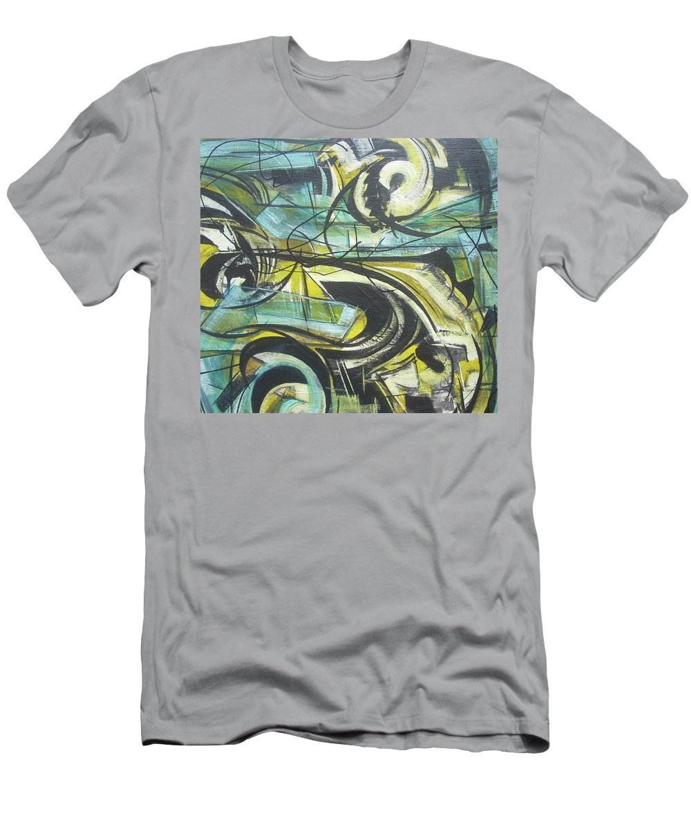 Beautiful Men's T-Shirt (Athletic Fit) featuring the painting She Moves Me Vol1 by Hasaan Kirkland
