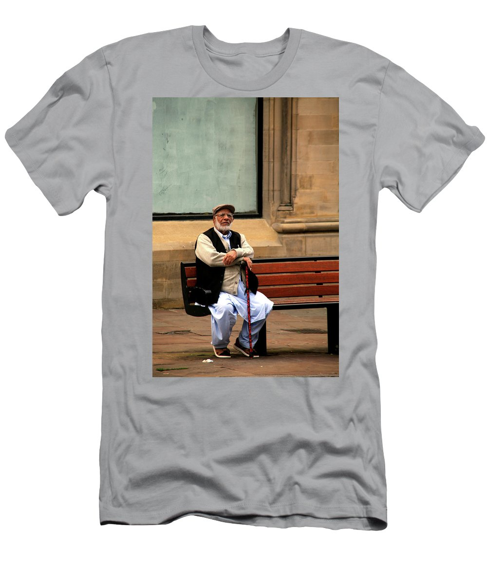 Men's T-Shirt (Athletic Fit) featuring the photograph She'll Come Soon by Jez C Self