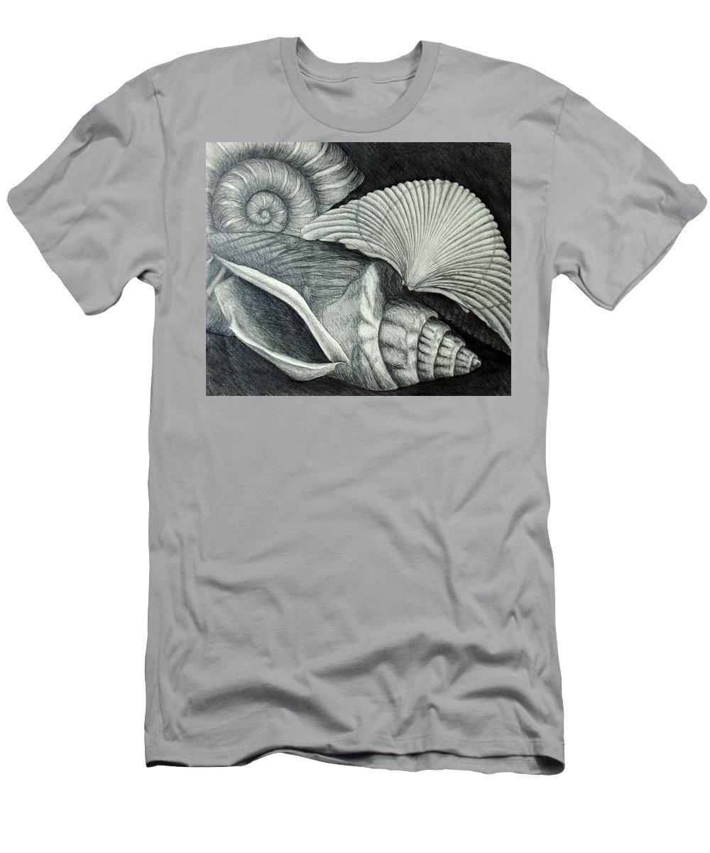 Shells Men's T-Shirt (Athletic Fit) featuring the drawing Shells by Nancy Mueller