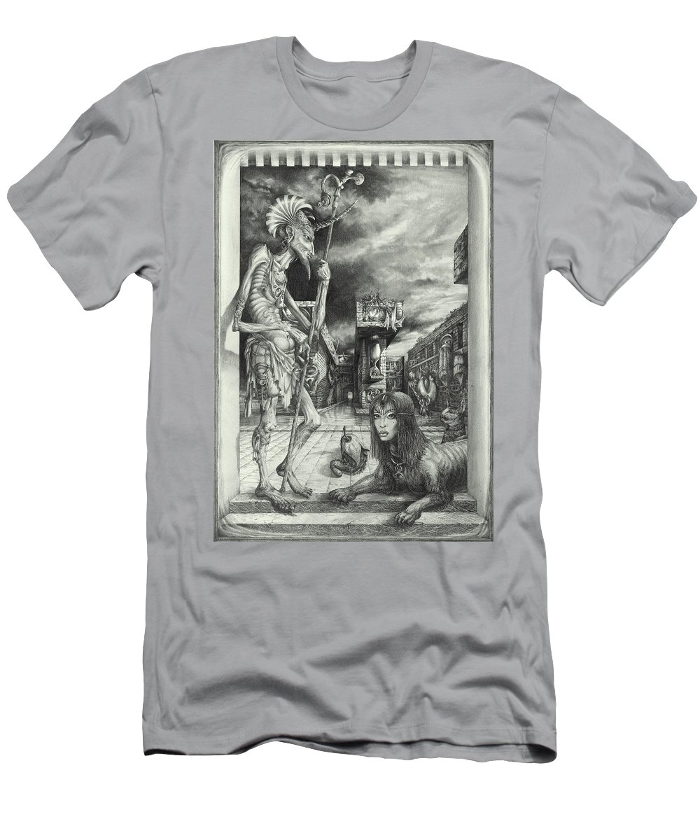 Otto Rapp T-Shirt featuring the drawing Shepherd of the Sphinx by Otto Rapp