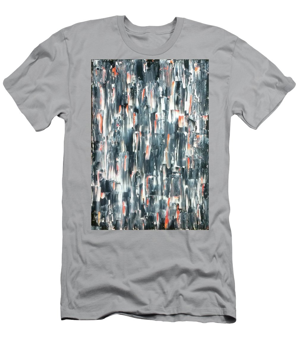 Abstract Men's T-Shirt (Athletic Fit) featuring the painting Shining Through by Hannah Goddard-Stuart