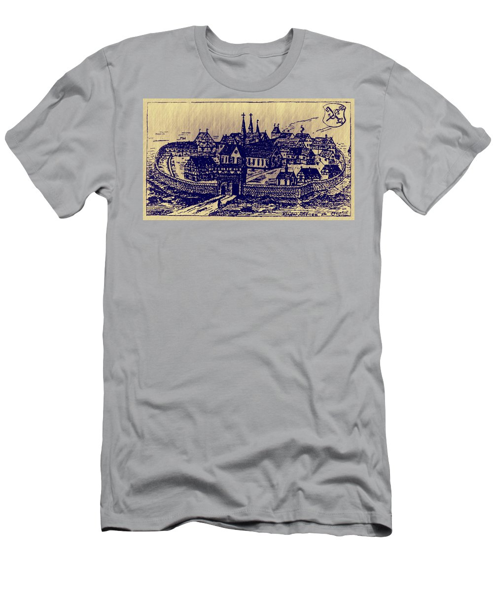 Monastery Men's T-Shirt (Athletic Fit) featuring the digital art Shoenou Monastary Germany by Bill Cannon