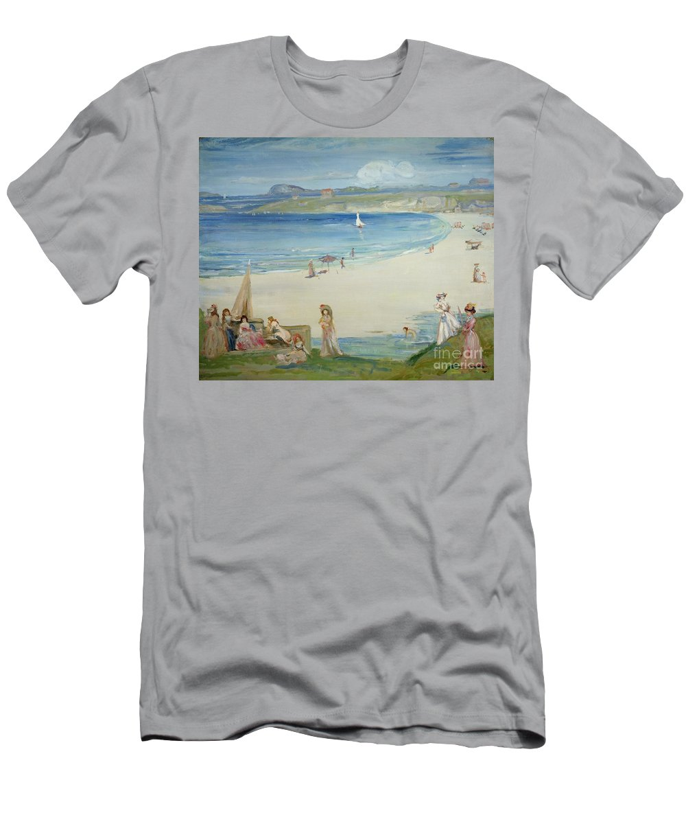 Silver Men's T-Shirt (Athletic Fit) featuring the painting Silver Sands by Charles Edward Conder