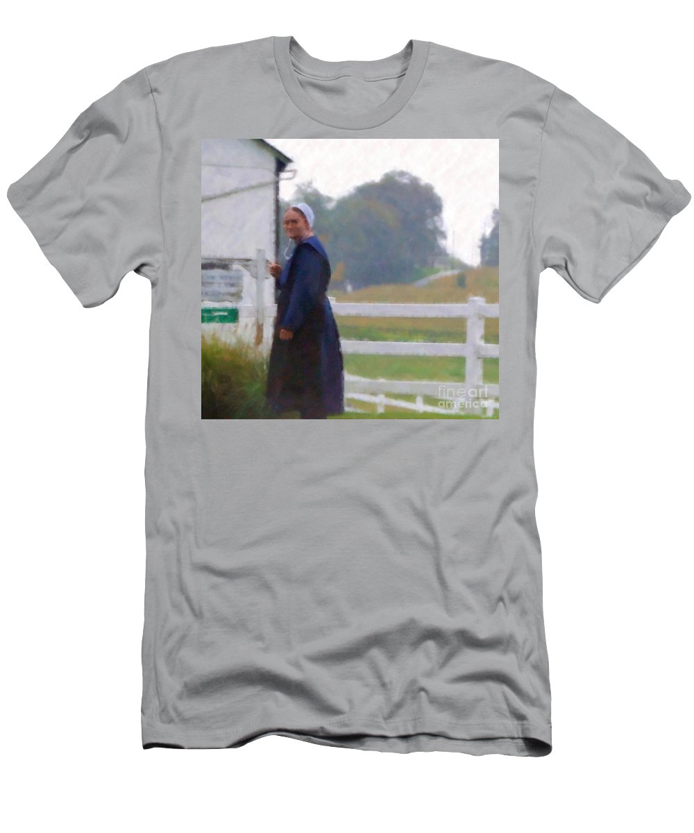 Amish Men's T-Shirt (Athletic Fit) featuring the photograph Simple Living by Debbi Granruth