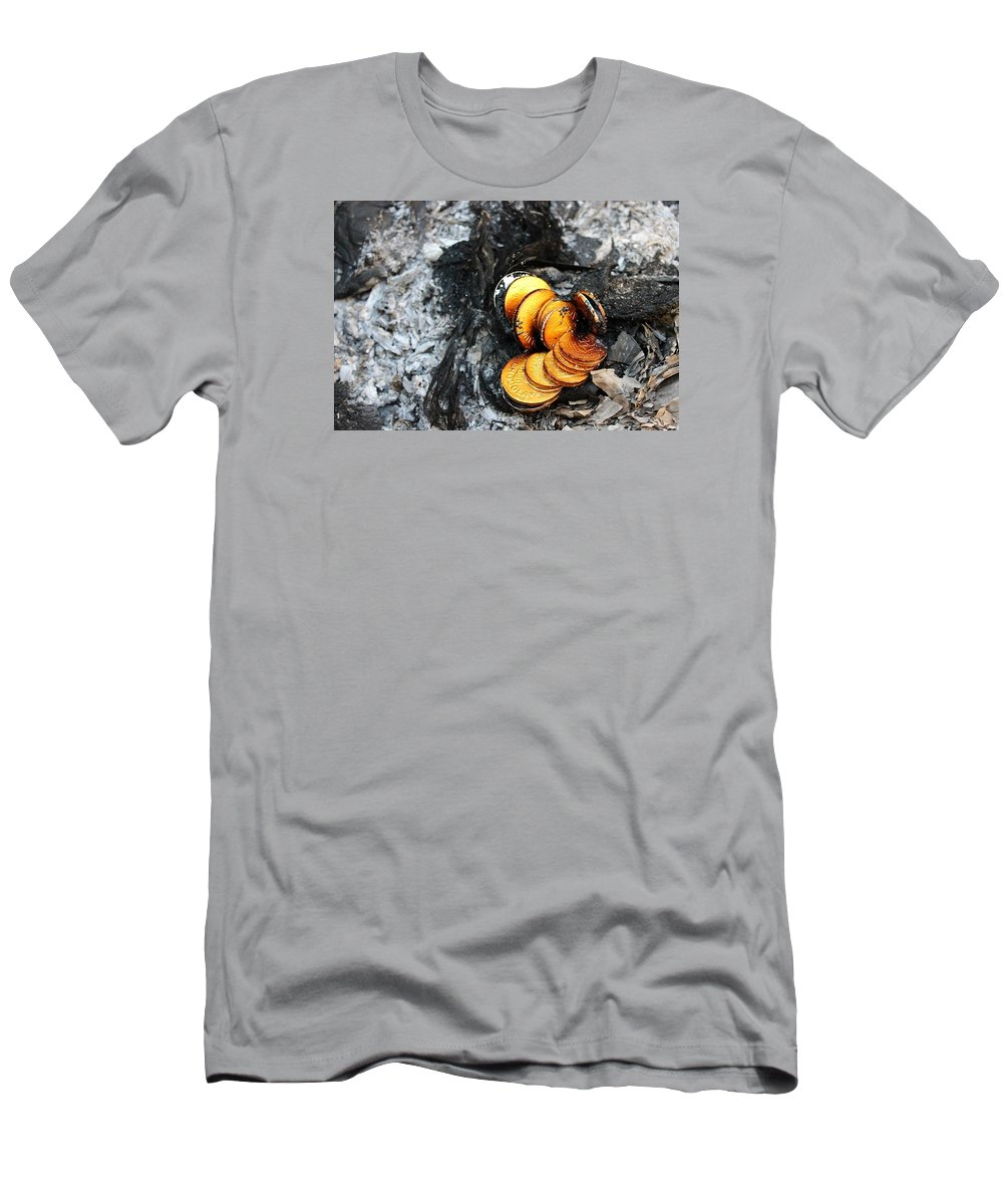 Fire Men's T-Shirt (Athletic Fit) featuring the photograph Sins by Joey Solomon