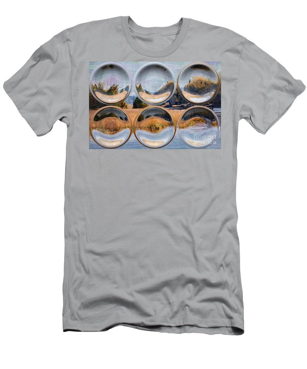 Water Men's T-Shirt (Athletic Fit) featuring the photograph Sitting On The Dock by Donna Bentley
