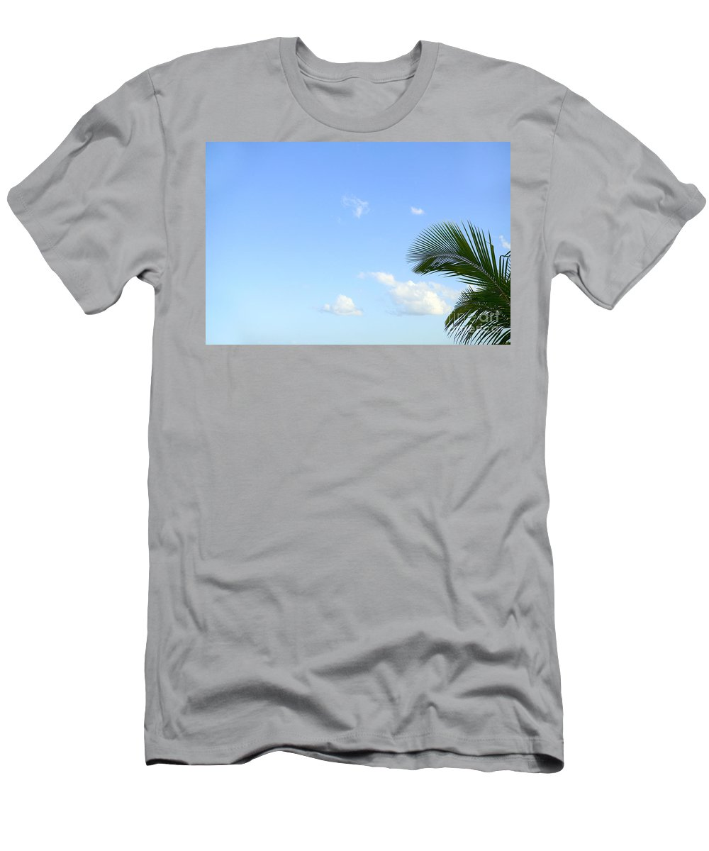 Afternoon Men's T-Shirt (Athletic Fit) featuring the photograph Sky And Palm by Dana Edmunds - Printscapes