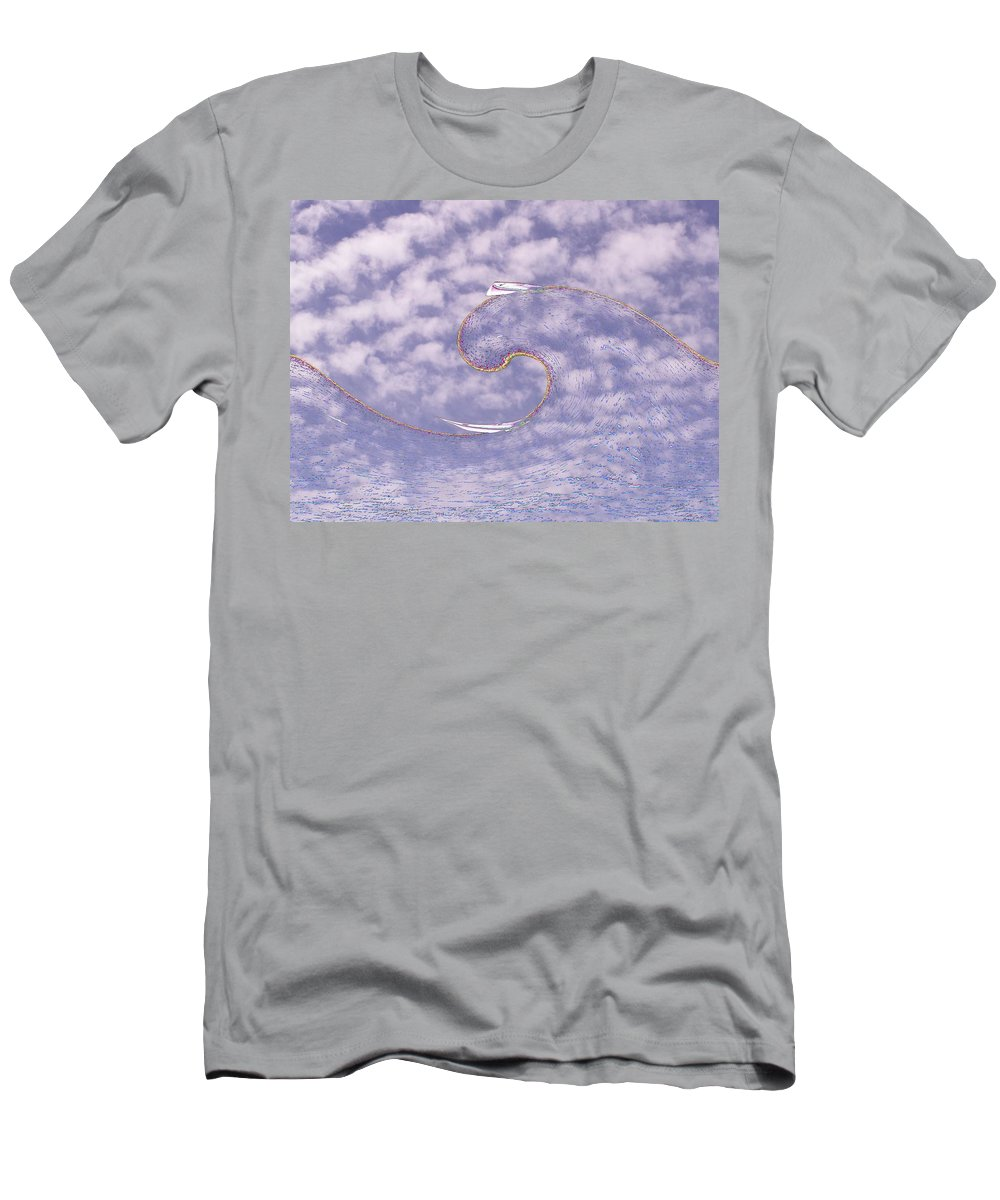 Sail Men's T-Shirt (Athletic Fit) featuring the photograph Sky High Sail Surfin by Tim Allen