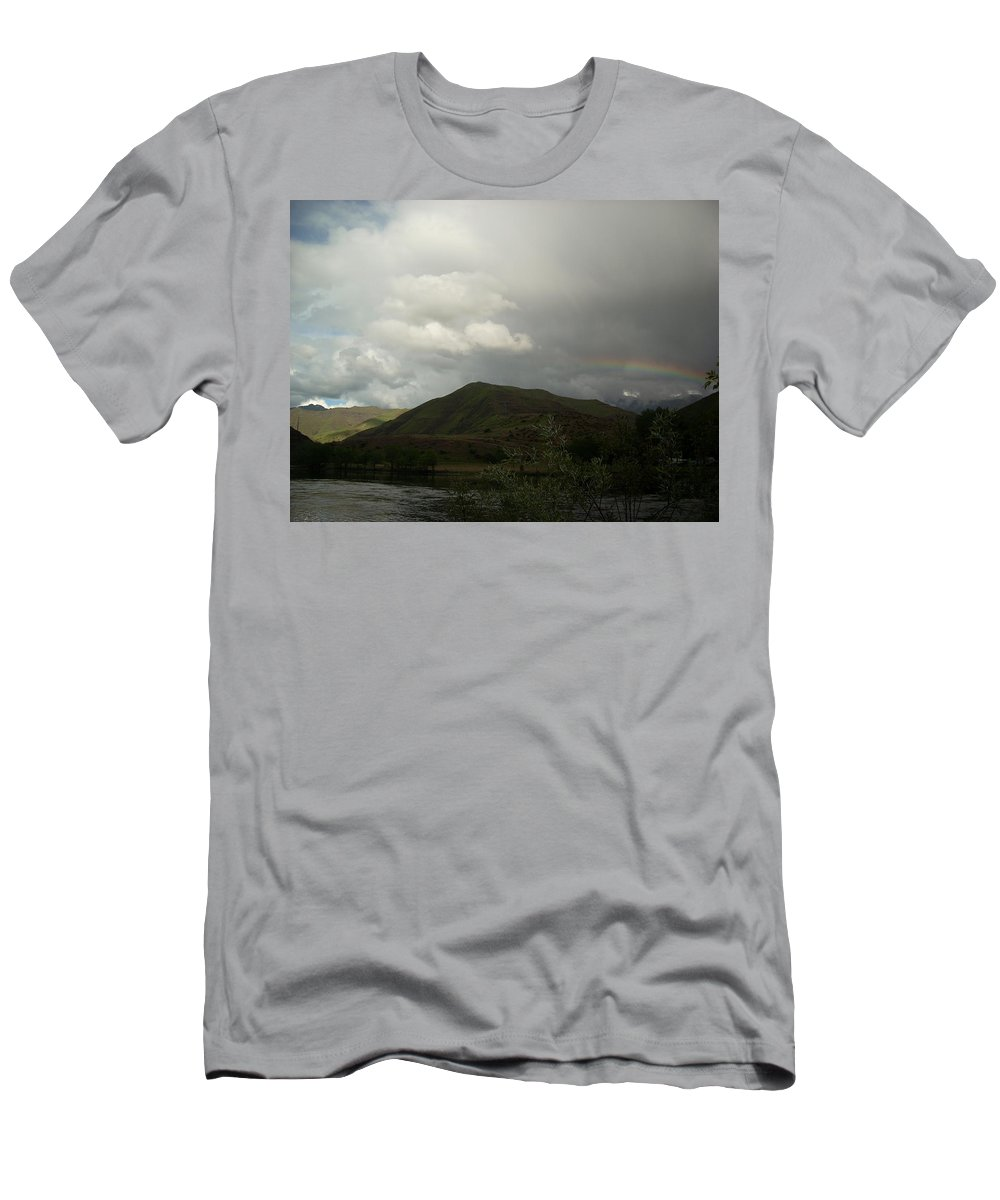 Landscape Men's T-Shirt (Athletic Fit) featuring the photograph Sky by Sara Stevenson