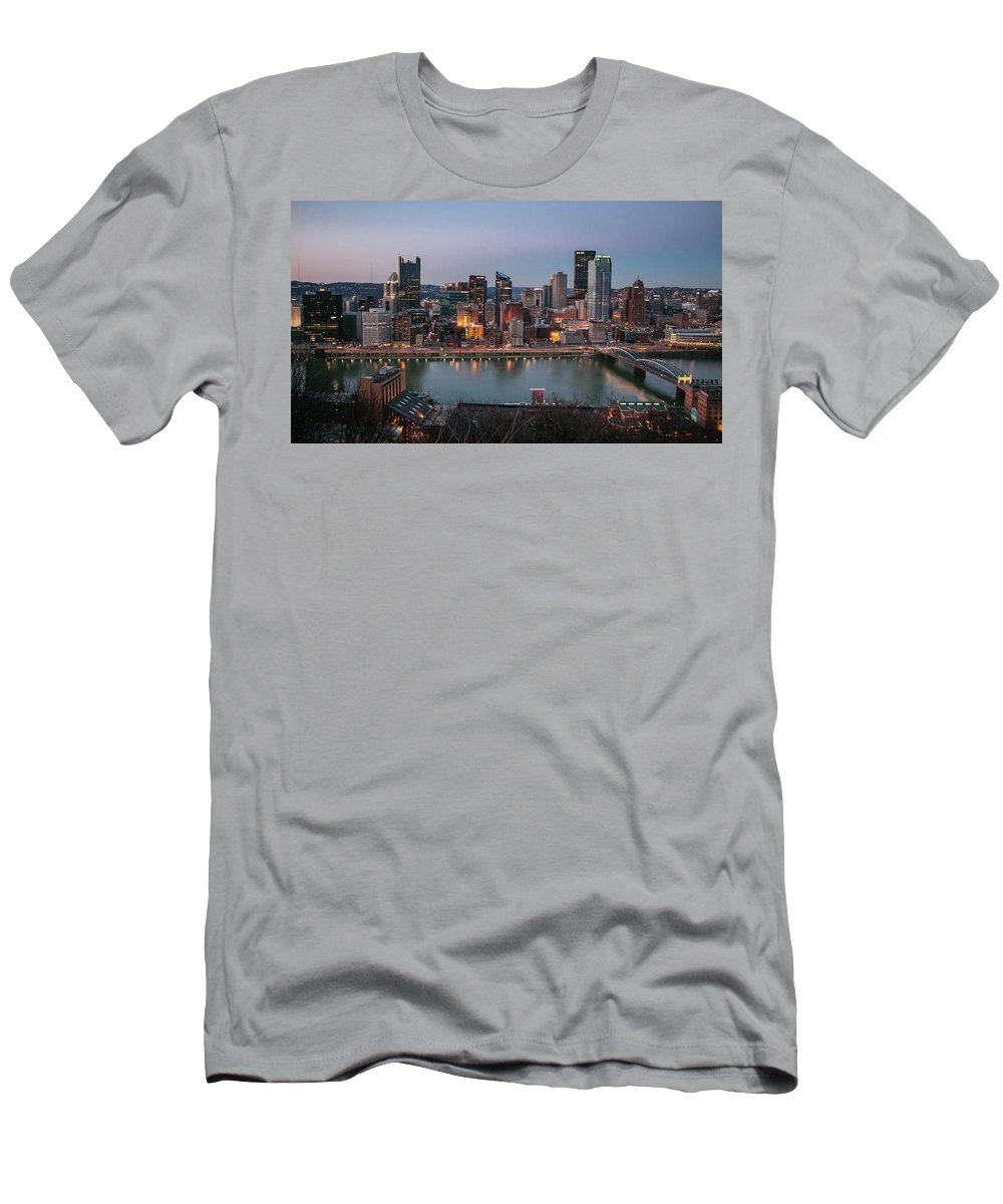 Photography Men's T-Shirt (Athletic Fit) featuring the photograph Skyline by Jessica Hamlyn