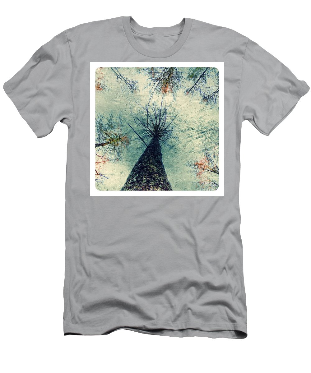 Trees Men's T-Shirt (Athletic Fit) featuring the digital art Skyward by Nick Eagles