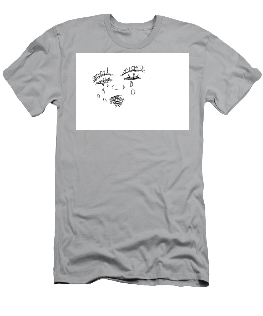 Sad Tired Done Men's T-Shirt (Athletic Fit) featuring the drawing Sleep Cry by Rachel
