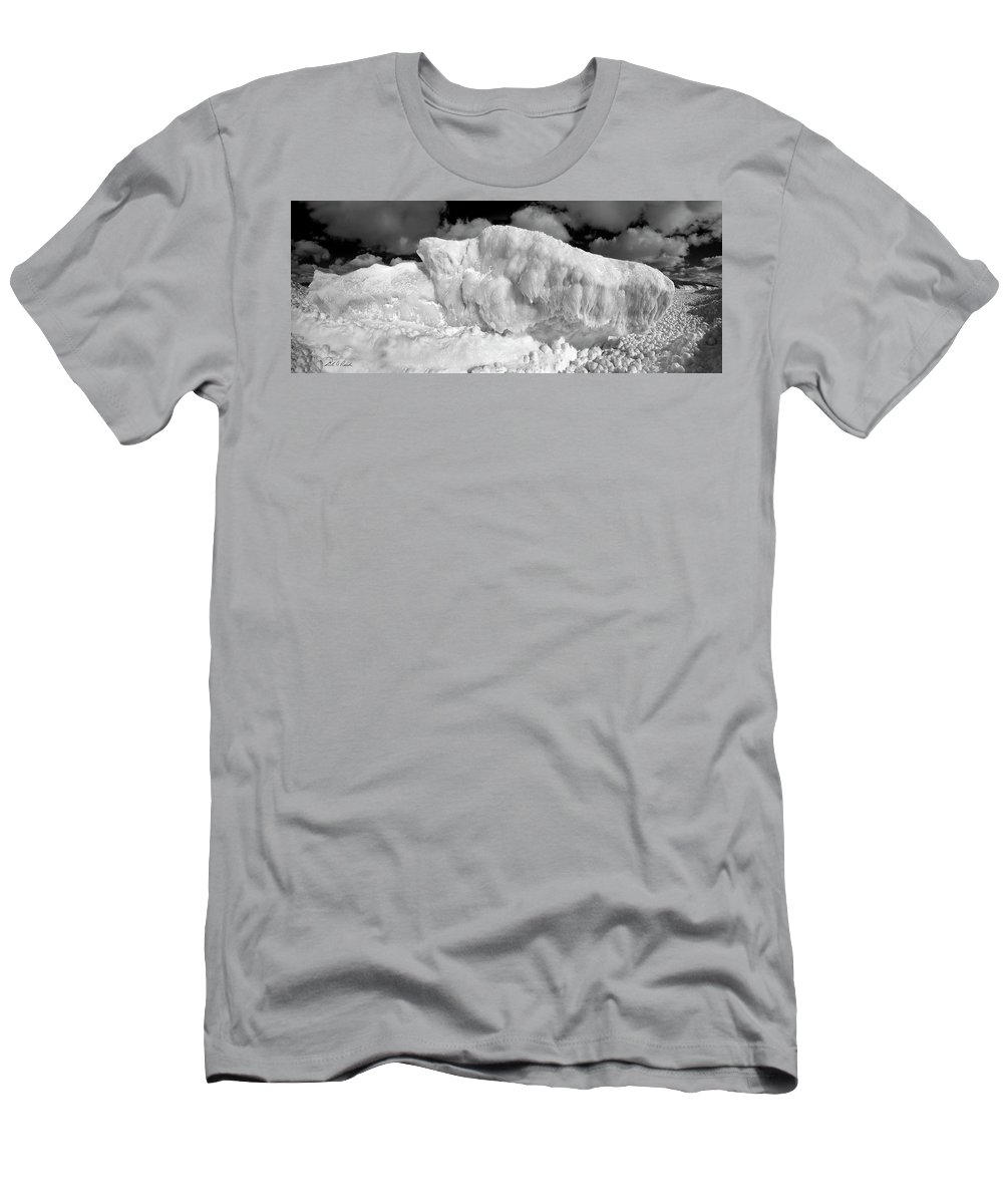 Photography Men's T-Shirt (Athletic Fit) featuring the photograph Sleeping Ice Giant by Frederic A Reinecke