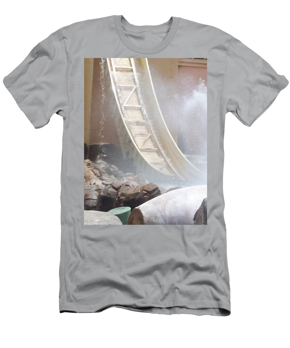 Slide Men's T-Shirt (Athletic Fit) featuring the photograph Slide Splash by Pharris Art