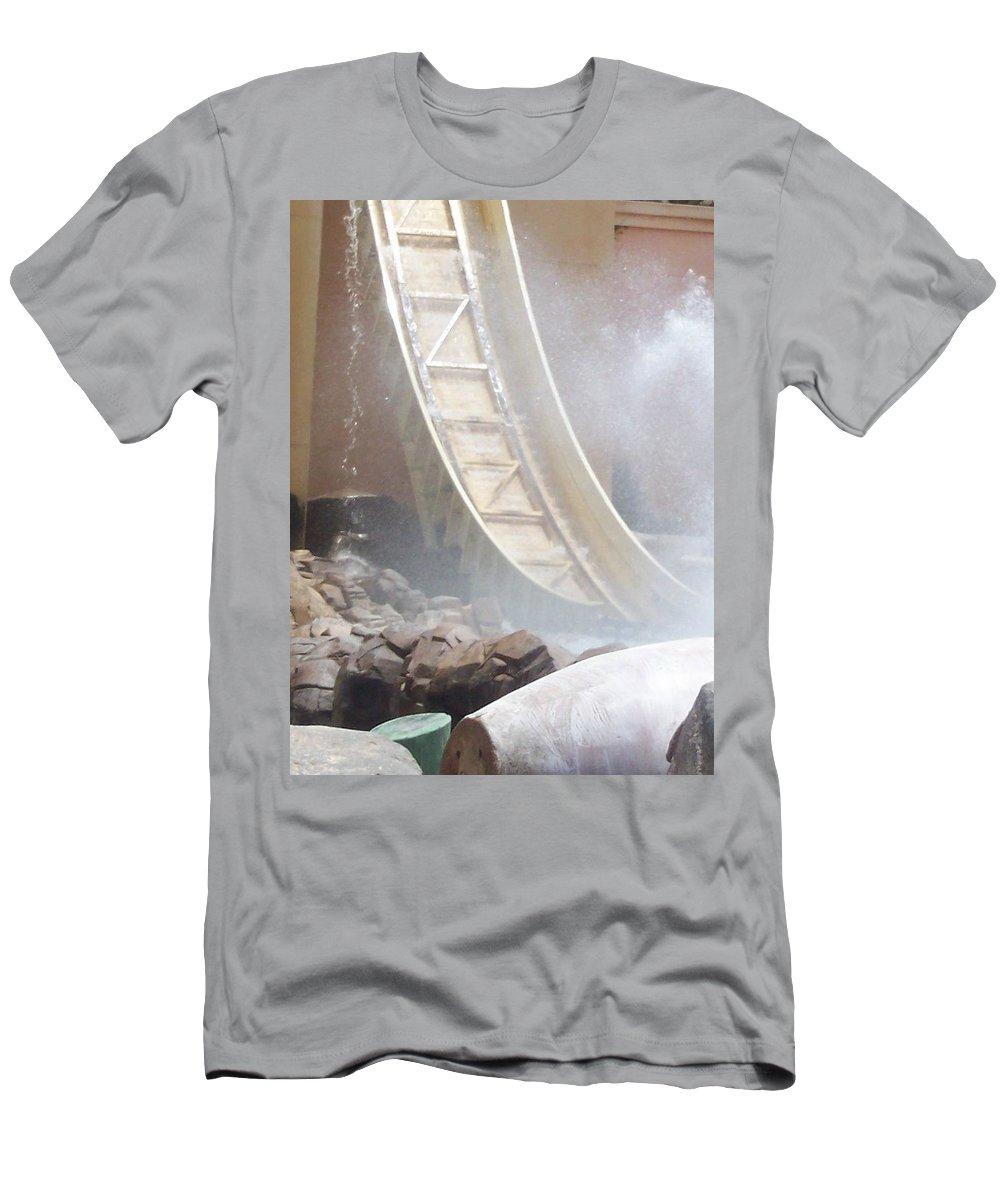 Slide Men's T-Shirt (Athletic Fit) featuring the photograph Slide Splash by Pharris Art
