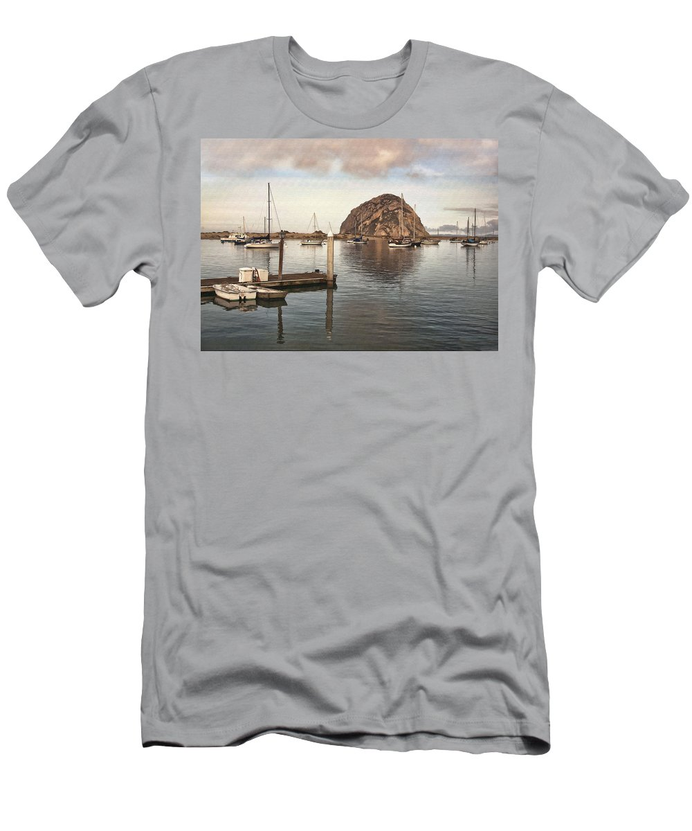 Pier Men's T-Shirt (Athletic Fit) featuring the digital art Small Pier by Sharon Foster