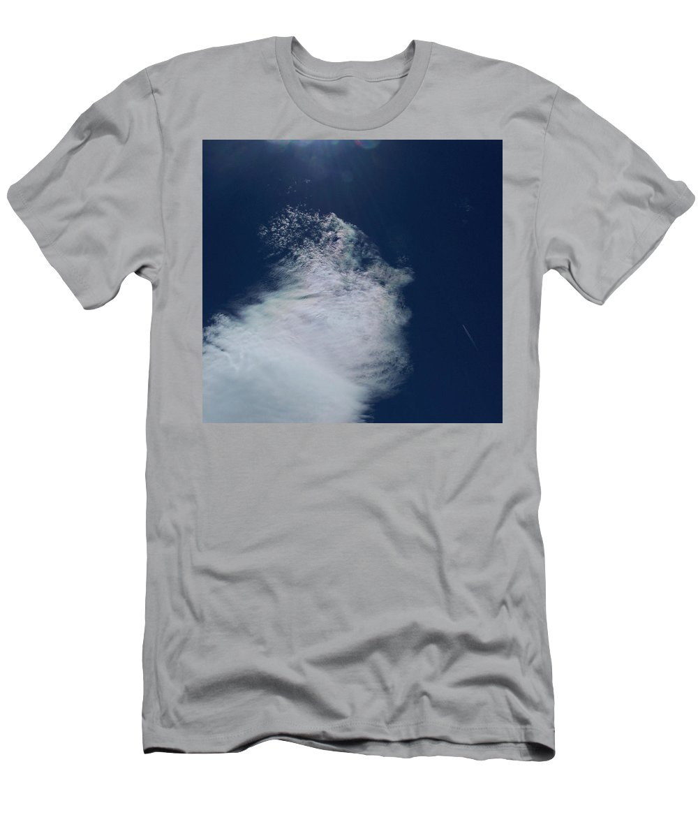 Strange Clouds Men's T-Shirt (Athletic Fit) featuring the photograph Sneezing Drones by Kit Kay