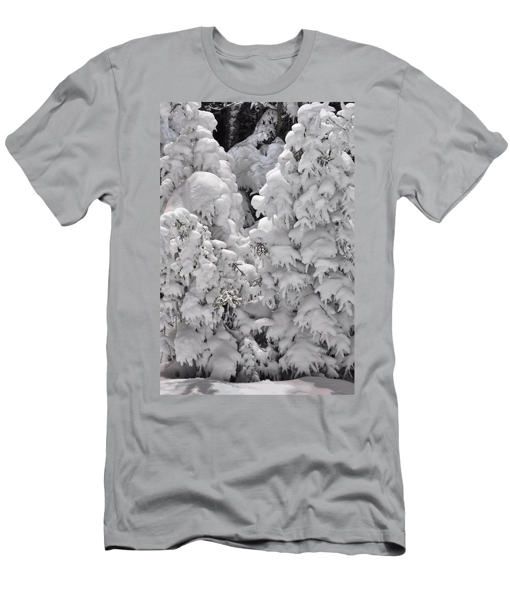 Snow Men's T-Shirt (Athletic Fit) featuring the photograph Snow Coat by Alex Grichenko