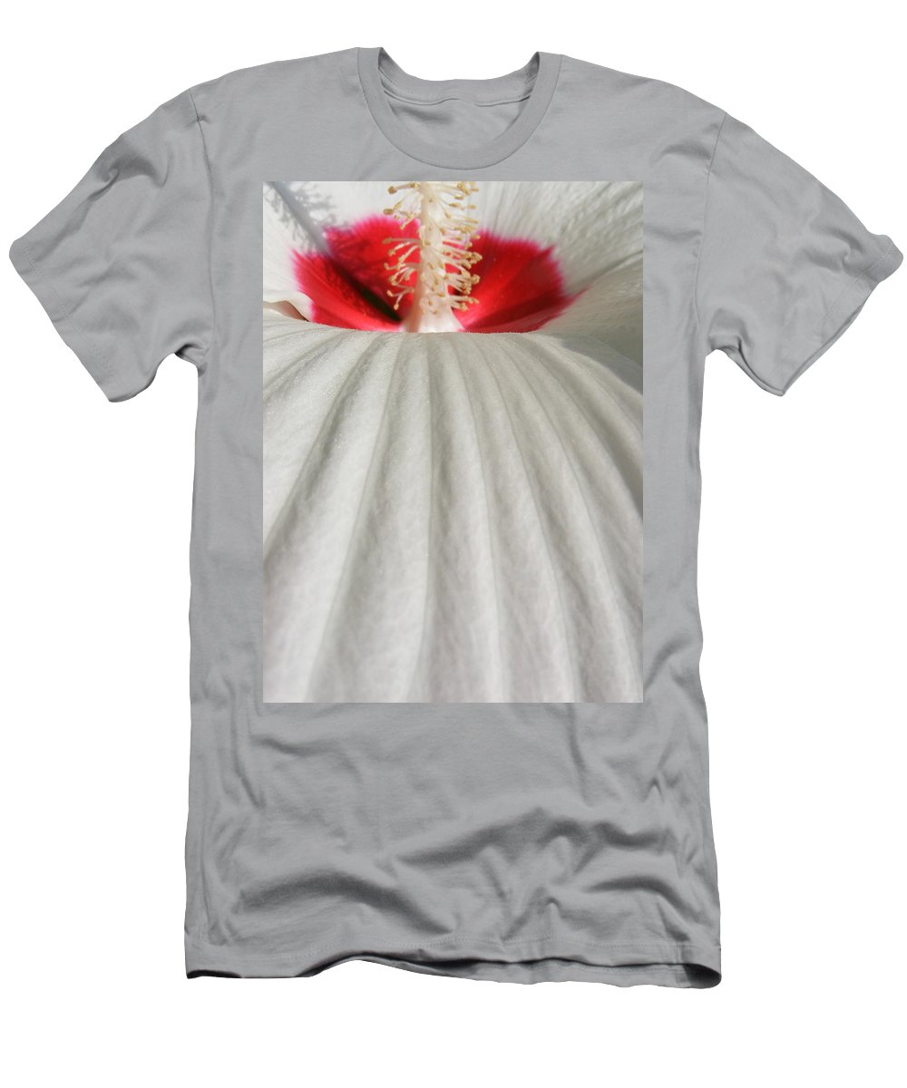 Still Life Men's T-Shirt (Athletic Fit) featuring the photograph Snow Covered Hill by Ed Smith