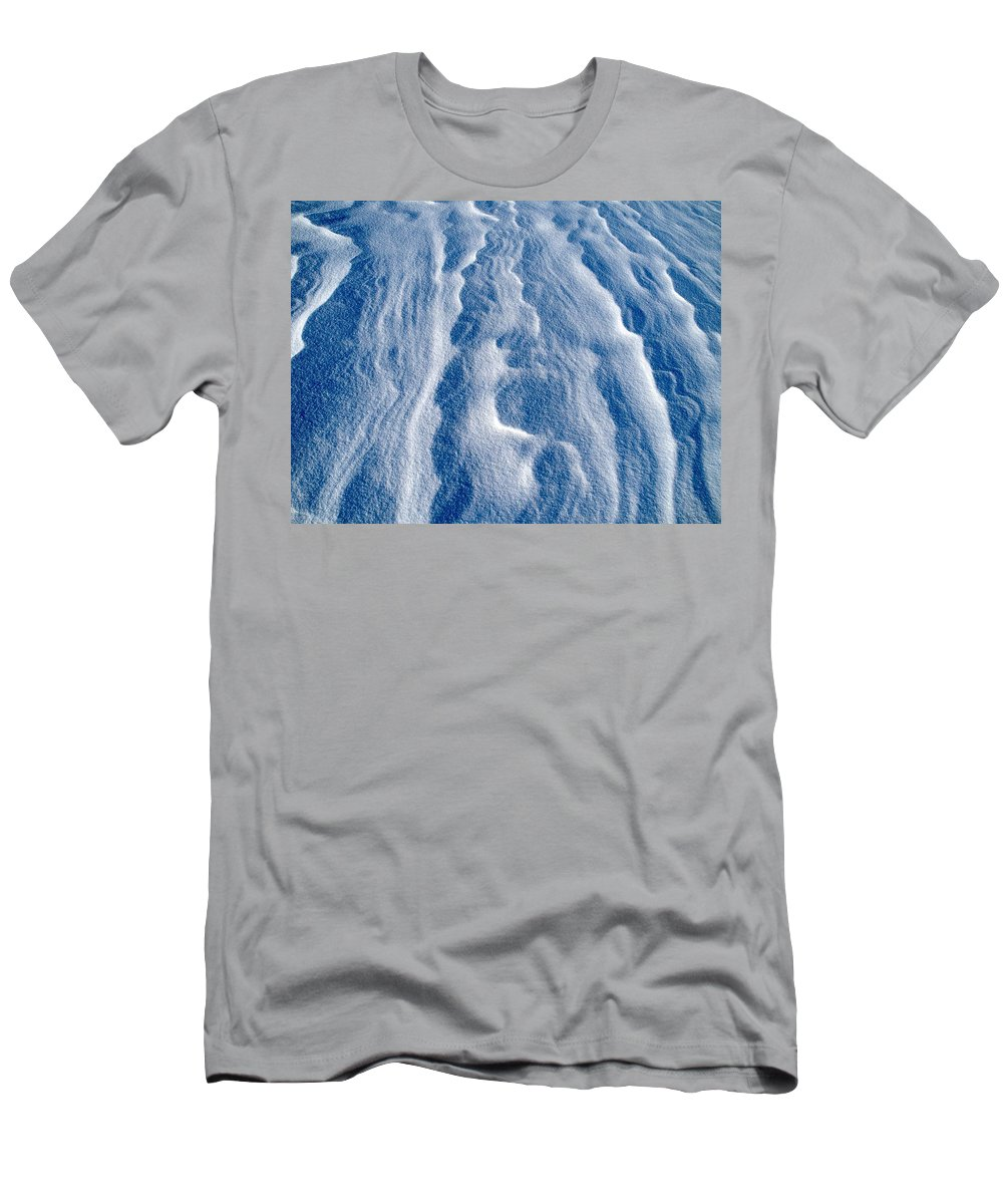 Talvi Men's T-Shirt (Athletic Fit) featuring the photograph Snowforms 1 by Jouko Lehto
