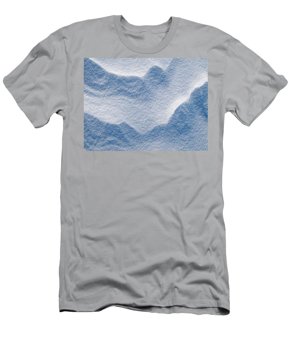 Talvi Men's T-Shirt (Athletic Fit) featuring the photograph Snowforms 3 by Jouko Lehto