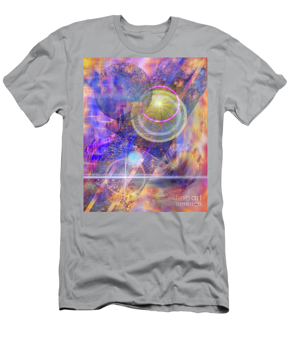 Solar Progression Men's T-Shirt (Athletic Fit) featuring the digital art Solar Progression by John Beck