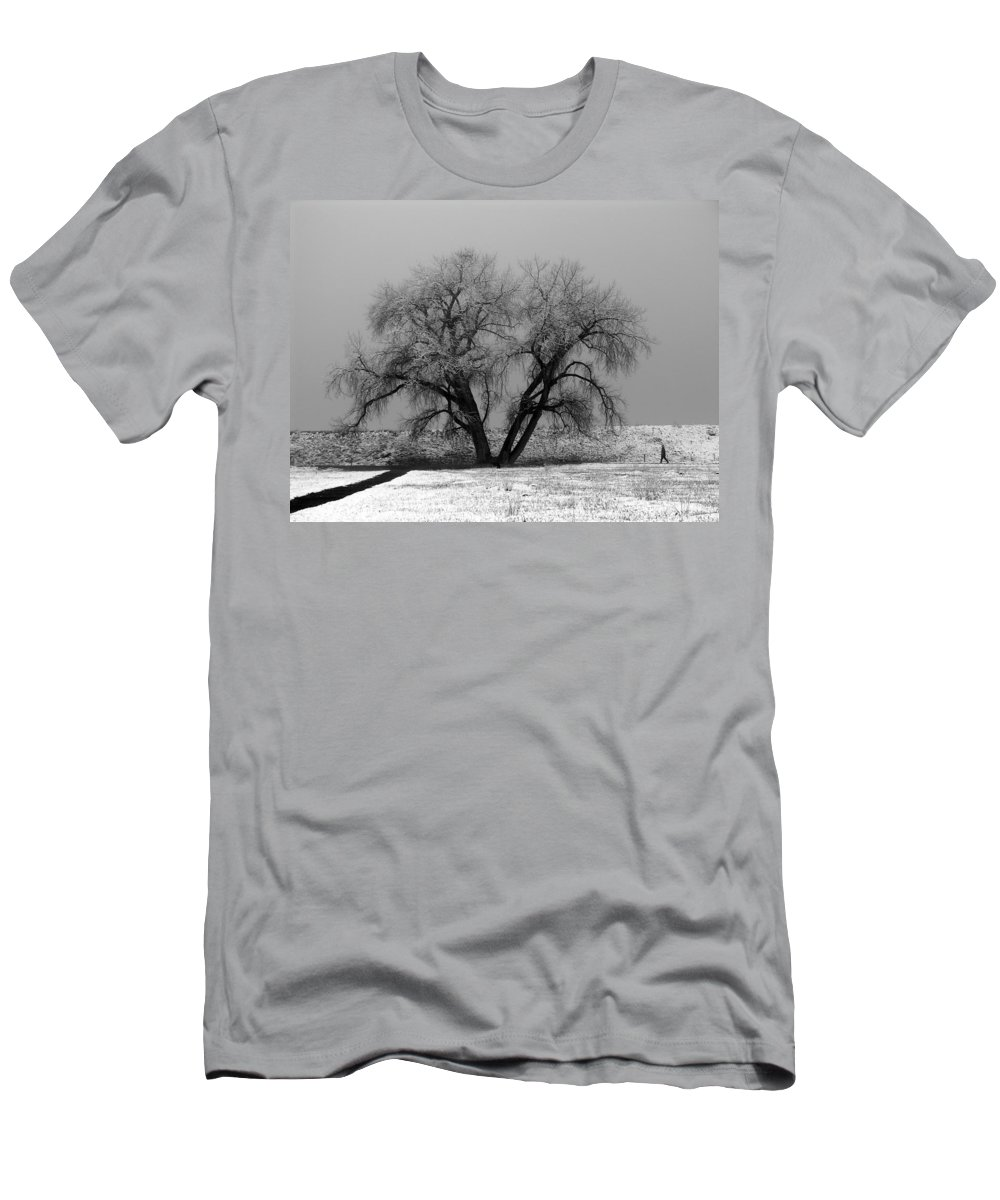Winter Men's T-Shirt (Athletic Fit) featuring the photograph Solitude by Marilyn Hunt